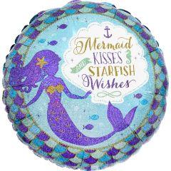 Standard Mermaid Wishes & Kisses folijski balon