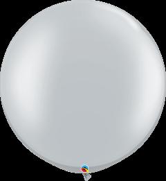 Lateks baloni 75cm Silver