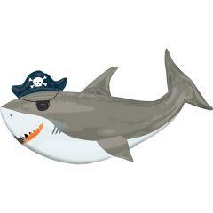 Maxi Ahoy Birthday Shark folijski balon
