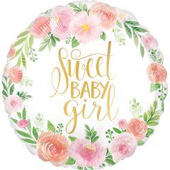 Standard Floral Baby Girl folijski balon