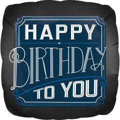 Standard Happy Birthday Man folijski balon