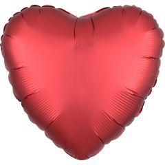 "Standard ""Satin Sangria Heart"" folijski balon"
