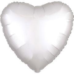 Standard srce Satin Luxe White folijski balon