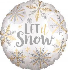 Shining Snow Satin folijski balon