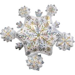Maxi Shining Snow Cluster Holographic folijski balon