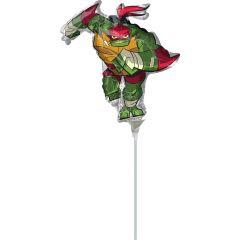 Mini  Rise Of The TMNT Raphael folijski balon na palčki