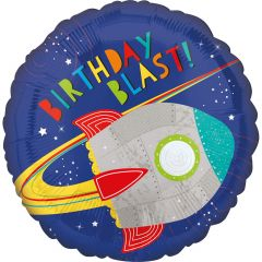 Standard HX Blast off Birthday folijski balon