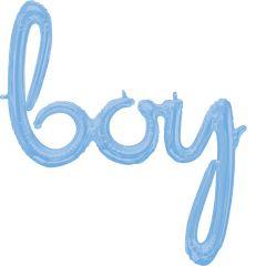 Natpis Boy Pastel Blue folijski balon