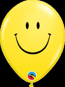 Lateks baloni 13cm Smile Face Yellow