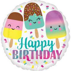 Standard Happy Ice Cream Birthday folijski balon