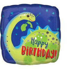 Standard Brontosaurus Happy Birthday folijski balon