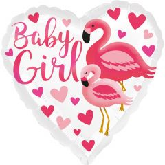 Standard Flamingo Baby Girl  folijski balon