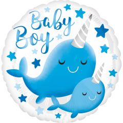Standard Narwhal Baby Boy folijski balon