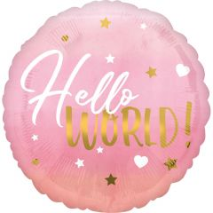 Standard HX Pink Baby Girl folijski balon