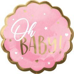 Maxi Pink Baby Girl folijski balon