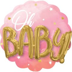 Maxi Multi Pink Baby Girl folijski balon