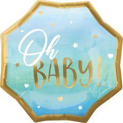 Maxi Blue Baby Boy folijski balon