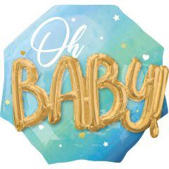 Maxi Multi Blue Baby Boy folijski balon
