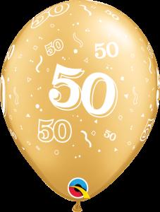 Lateks baloni 28cm 50 A Round Gold