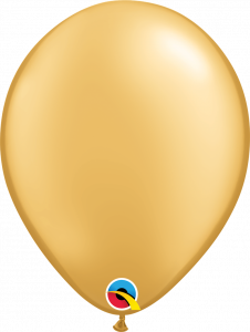 Lateks baloni 28cm Gold