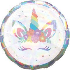 Standard Holographic Iridescent Unicorn Party folijski balon