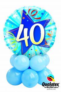 Balonska skulptura 40th Birthday Shining Star