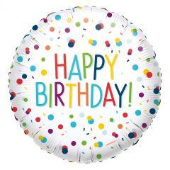 Standard EU Confetti Birthday folijski balon