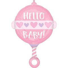 Standard Baby Girl Rattle folijski balon