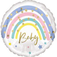 Standard Pastel Rainbow Baby  folijski balon