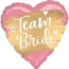 Standard Satin Gold Team Bride folijski balon