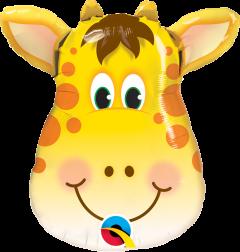 Mini Jolly Giraffe folijski balon na štapiću
