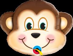 Mini Mischievous Monkey folijski balon na štapiću