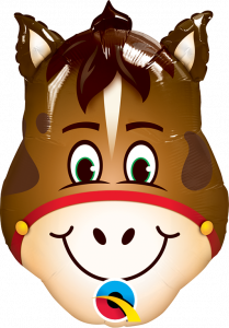Mini Hilarious Horse folijski balon na štapiću