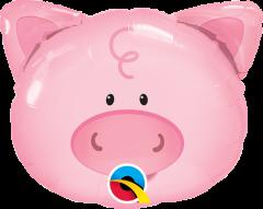 Mini Playful Pig folijski balon na štapiću