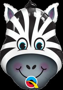Mini Zany Zebra folijski balon na štapiću