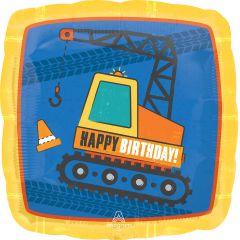 Standard Construction Birthday folijski balon
