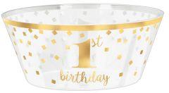 1st Birthday plastična posuda 25 cm