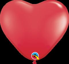Lateks baloni srce 15cm Red
