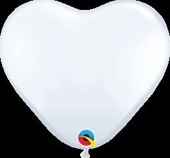 Lateks baloni srce 15cm White