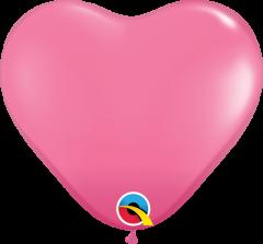 Lateks baloni srce 28cm Rose