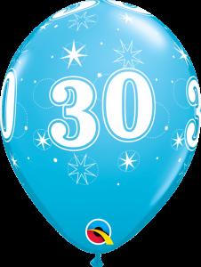 Lateks baloni 28cm 30 Sparkle Robins Egg