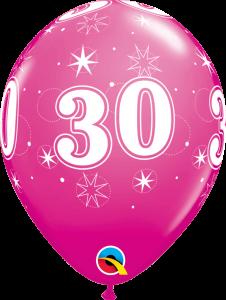 Lateks baloni 28cm 30 Sparkle Wild Berry