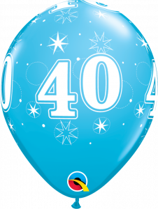 Lateks baloni 28cm 40 Sparkle Robins Egg