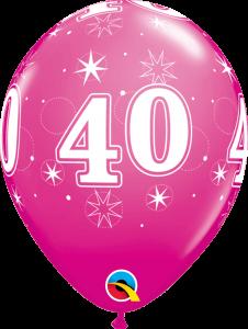 Lateks baloni 28cm 40 Sparkle Wild Berry