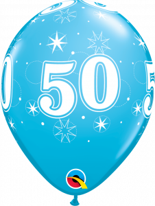 Lateks baloni 28cm 50 Sparkle Robins Egg