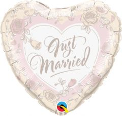 Standard Just Married Roses folijski balona
