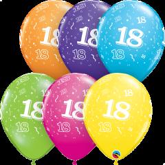 Lateks baloni 28cm 18 A Round Tropical Ast