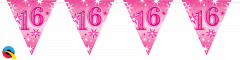 Zastavice 16 Pink Sparkle 3,6m (16 zastavica)