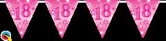 Zastavice 18 Pink Sparkle 3,6m (16 zastavica)