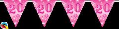 Zastavice 20 Pink Sparkle 3,6m (16 zastavica)